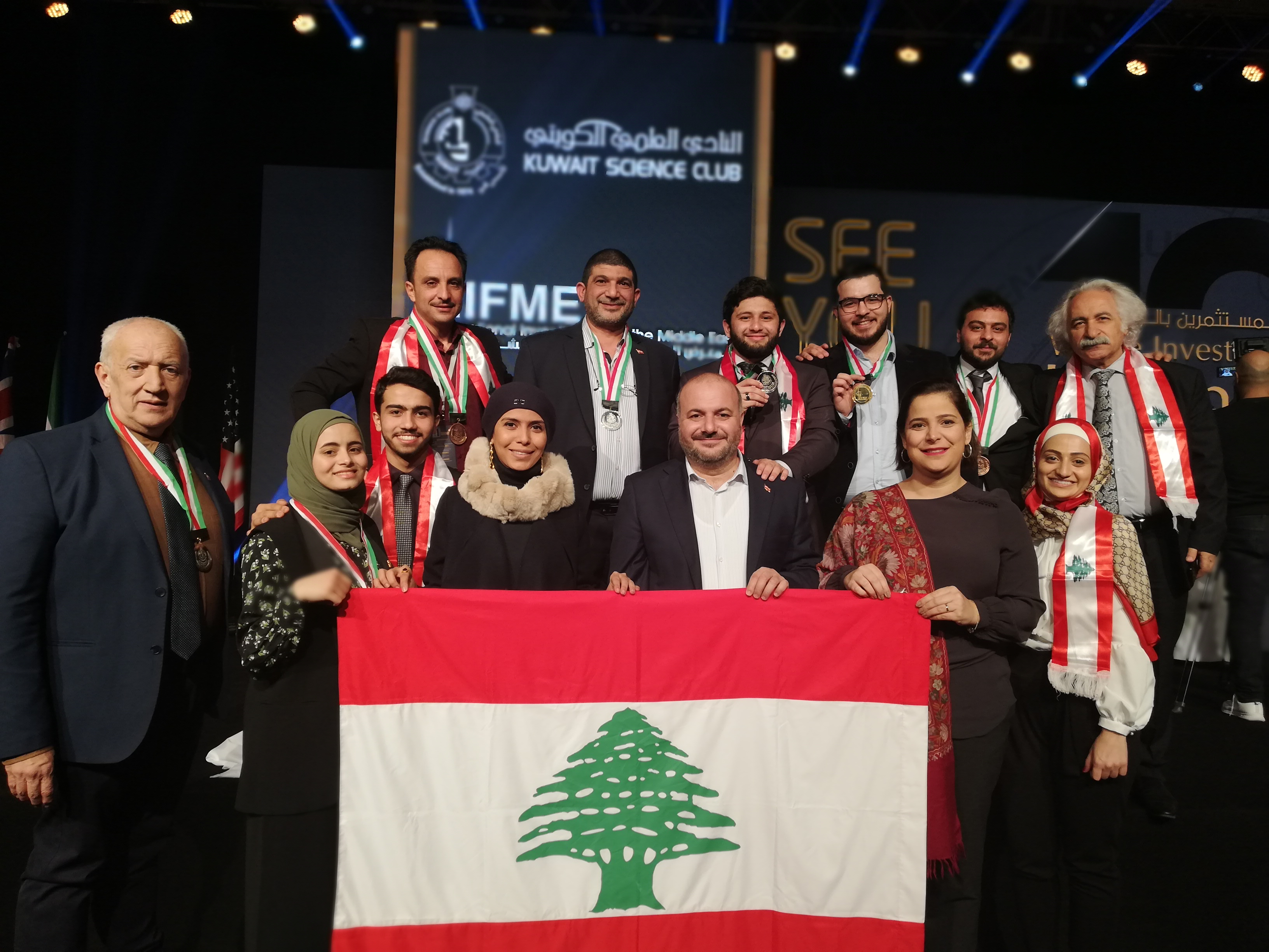 ميدالية ذهبية و5 فضيات وبرونزيتان للبنان في المعرض الدولي الحادي عشر للاختراعات في الشرق الأوسط – الكويت